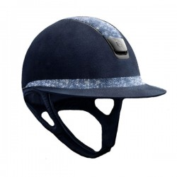 Casco Miss Shield Premium blu Cristal Fabric
